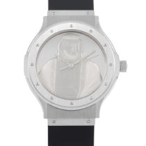 Hublot White gold Automatic Silver 36mm pre-owned