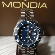 Mondia Steel 43mm Automatic MS-213-SSBL-BL-OY new