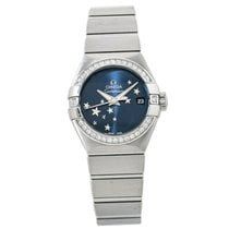 Omega Constellation Ladies pre-owned 28mm Blue Date Steel