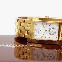 Longines Yellow gold Quartz White Arabic numerals 27mm new DolceVita