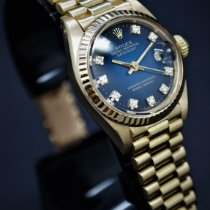 Rolex Lady-Datejust Or jaune 26mm Bleu Sans chiffres France, Nice
