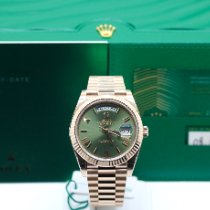Rolex Day-Date 40 Rose gold 40mm Green Roman numerals United Kingdom, London