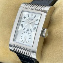 Rolex Cellini Prince Złoto białe 27mm Srebrny Rzymskie
