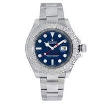Rolex Platinum Automatic Blue 40mm pre-owned Yacht-Master 40