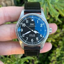IWC Pilot Mark pre-owned 40mm Black Leather