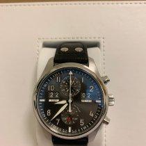 IWC Pilot Spitfire Perpetual Calendar Digital Date-Month Steel 46mm Grey Arabic numerals