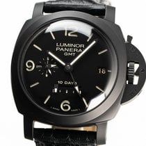 Panerai Luminor 1950 10 Days GMT Ceramic 44mm Black No numerals