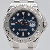 Rolex Yacht-Master 40 Сталь 40mm Синий Без цифр