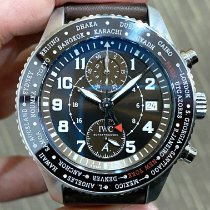 IWC Pilot Chronograph usados Marrón Piel de aligátor