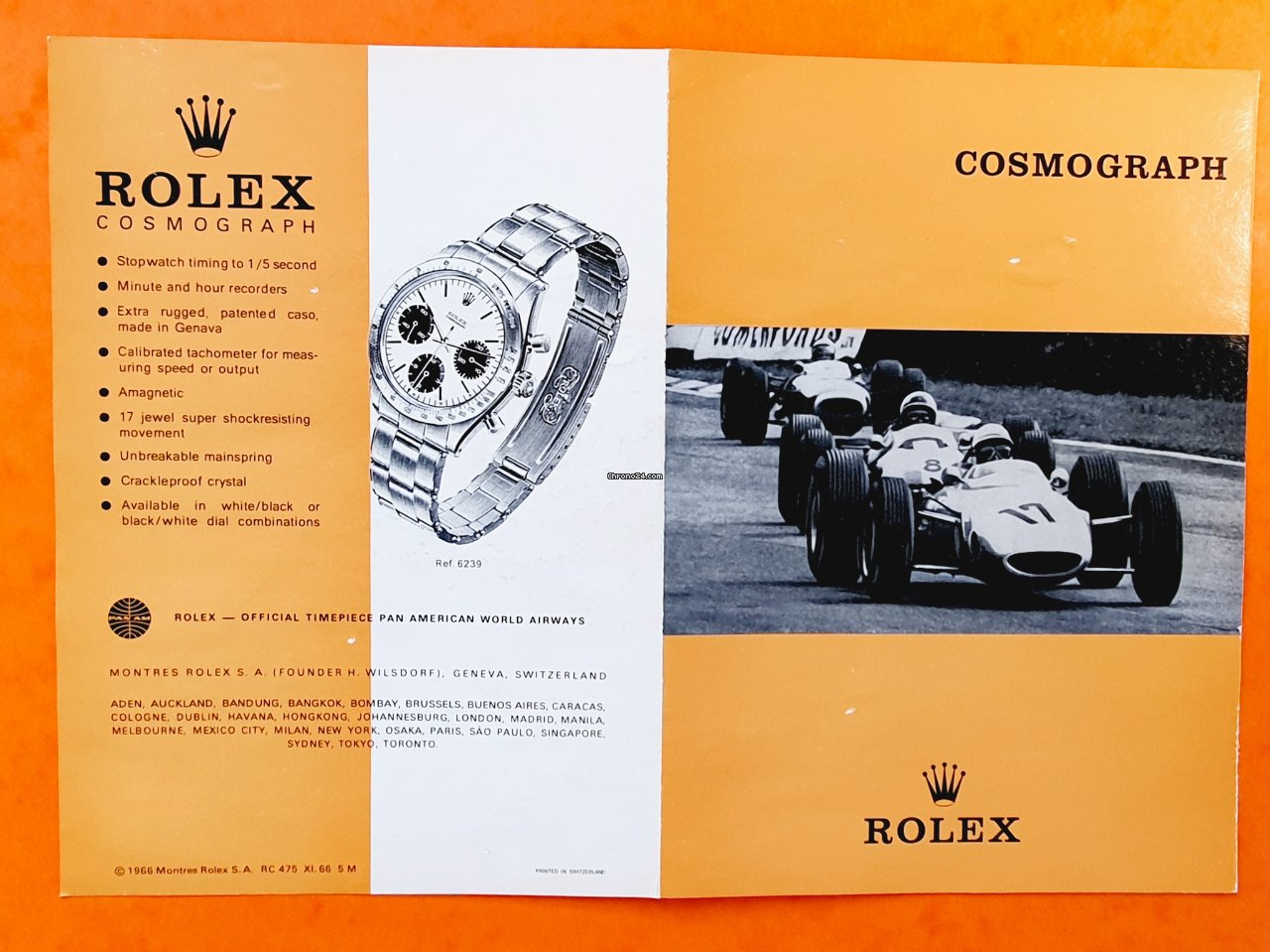 Rolex Daytona Vintage & Collectible Genuine Cosmograph Daytona Paul Newman 6239,6265 Booklet, manual english 1966 pre-owned