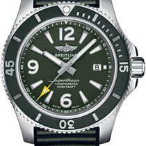 Breitling Steel Automatic Green 44mm new Superocean 44