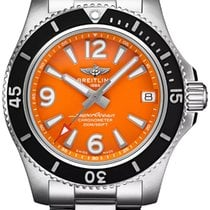 Breitling Steel Automatic Orange Arabic numerals 36mm new Superocean