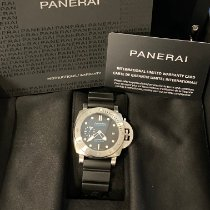 Panerai Luminor Submersible Stål 42mm Svart Ingen tall
