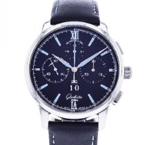 Glashütte Original Senator Chronograph Panorama Date Steel 42mm Black United States of America, Georgia, Atlanta