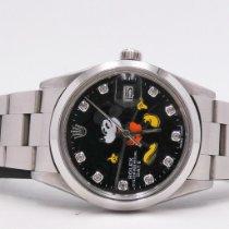 Rolex Oyster Perpetual Date Otel 34mm Negru Fara cifre