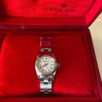 Rolex Белое золото Автоподзавод Белый Римские 24mm подержанные Oyster Perpetual