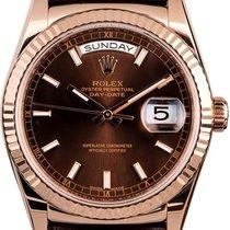 Rolex Day-Date 36 118135 Velmi dobré Růžové zlato 36mm Automatika