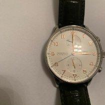 IWC Portuguese Chronograph Aço 41mm Branco Árabes Brasil, Sao Paulo
