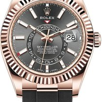 Rolex Sky-Dweller Rose gold 42mm Grey No numerals United States of America, California, Los Angeles