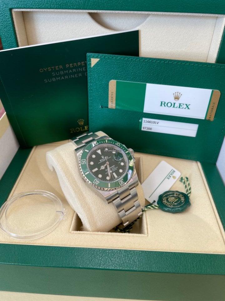 Rolex Submariner Date 116610LV Hulk 2020 new