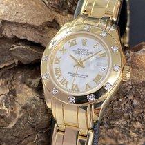 Rolex Lady-Datejust Pearlmaster Gelbgold 28mm Weiß Deutschland, München
