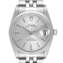 Tudor Prince Date Steel 34mm Silver