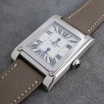 Cartier Tank (submodel) Very good White gold Manual winding