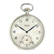 Longines Uhr gebraucht Stahl 48mm Arabisch Handaufzug Nur Uhr
