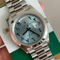Rolex Day-Date 40 Platin 40mm Blau Keine Ziffern Deutschland, Köln