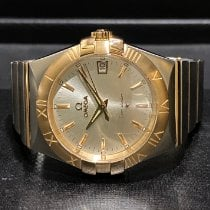 Omega Constellation Quartz Gold/Steel 35mm Silver No numerals Singapore