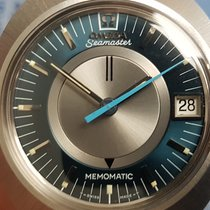 Omega Memomatic Stål 40mm Blå Inga siffror