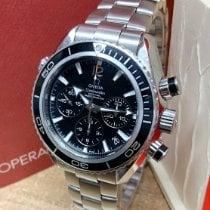 Omega Seamaster Planet Ocean Chronograph Steel 38mm Black No numerals