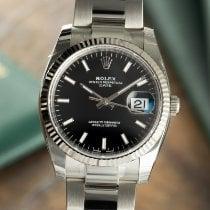 Rolex Oyster Perpetual Date Or/Acier 34mm Noir