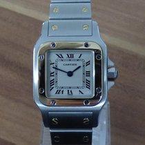 Cartier Santos Galbée gebraucht 23mm Weiß Gold/Stahl
