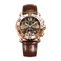 Chopard Happy Sport Rosa guld 42mm Brun