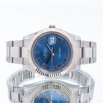 Rolex Datejust II Acero 41mm Azul Romanos