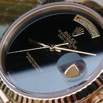 Rolex Day-Date 36 Gelbgold Schwarz Österreich, FFM