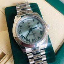 Rolex Day-Date II Platin 41mm Blau Römisch Schweiz, zürich
