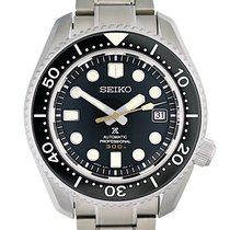 Seiko Steel Automatic Black No numerals 44.3mm new Marinemaster