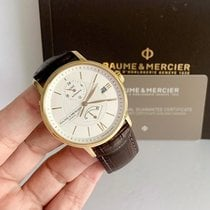 Baume & Mercier Yellow gold Automatic White 39mm pre-owned Classima
