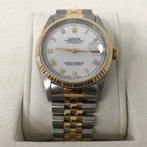 Rolex Datejust usados 36mm Blanco Fecha Acero y oro
