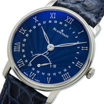 Blancpain White gold Automatic Blue 40mm pre-owned Villeret Ultra-Slim