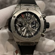 Hublot Big Bang Unico pre-owned 42mm Transparent Chronograph Rubber