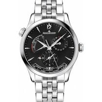 Jaeger-LeCoultre Master Geographic Steel 39mm Black No numerals