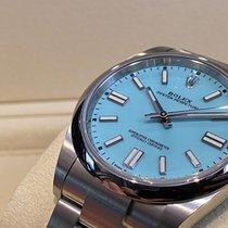 勞力士 Oyster Perpetual 鋼 41mm 藍色 無數字