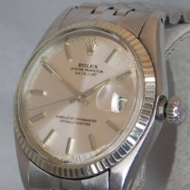 Rolex pre-owned Automatic 36mm Silver Plastic Not water resistant