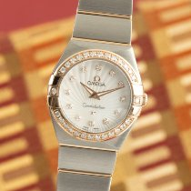 Omega Constellation Quartz Guld/Stål 24mm Pärlemor