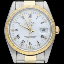 Rolex Oyster Perpetual Date Gold/Steel 34mm White Roman numerals
