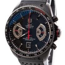 TAG Heuer Grand Carrera Titanium 43mm Black No numerals