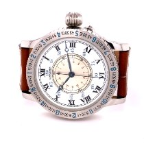 Longines Lindbergh Hour Angle Steel 74mm White Roman numerals